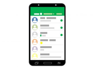 Smartphone WhatsApp Chat-Backup