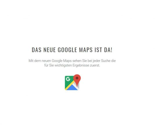 Google Maps Startseite Screenshot