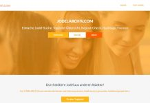 Jodelarchiv Screenshot der Website